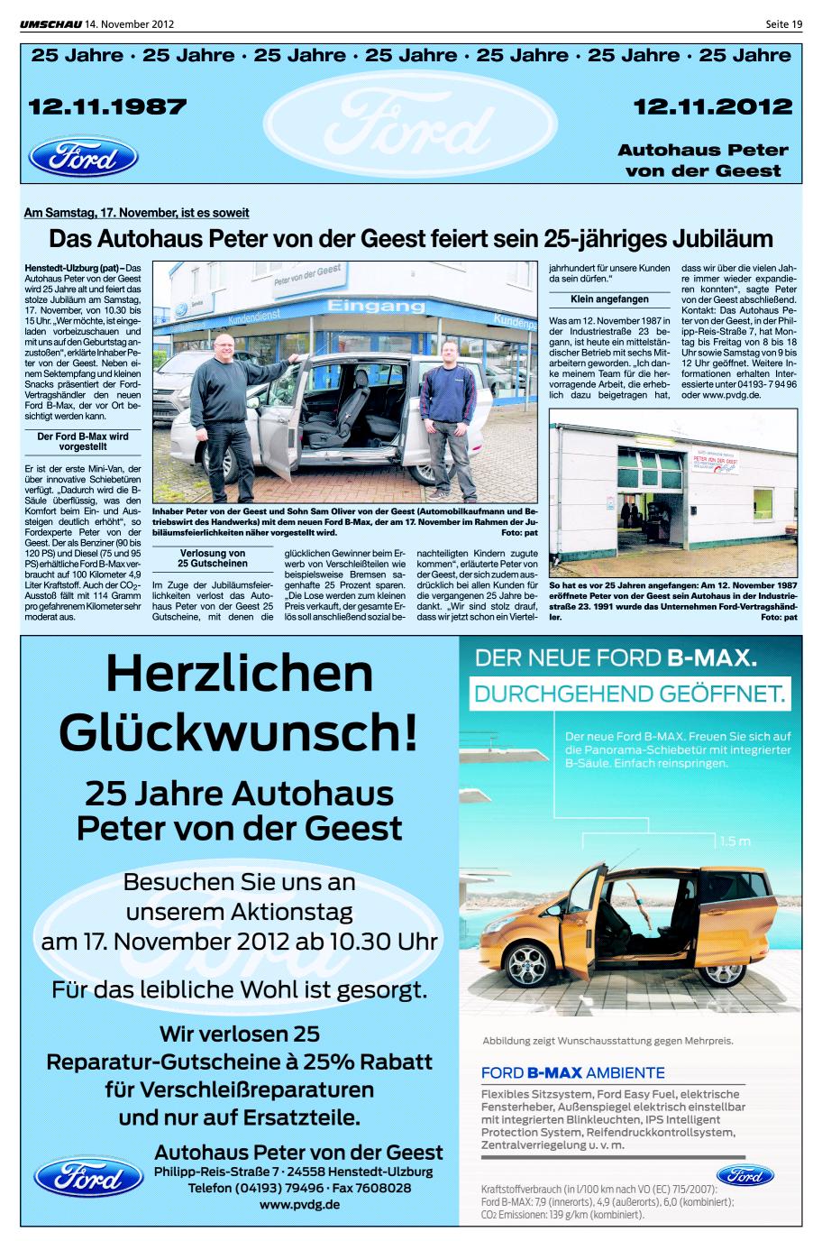 25 Jahre Autohaus Peter von der Geest